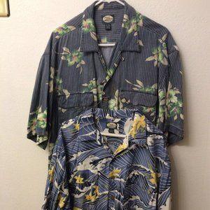 Tommy Bahama Hawaiian Button Shirt Lot Of 2